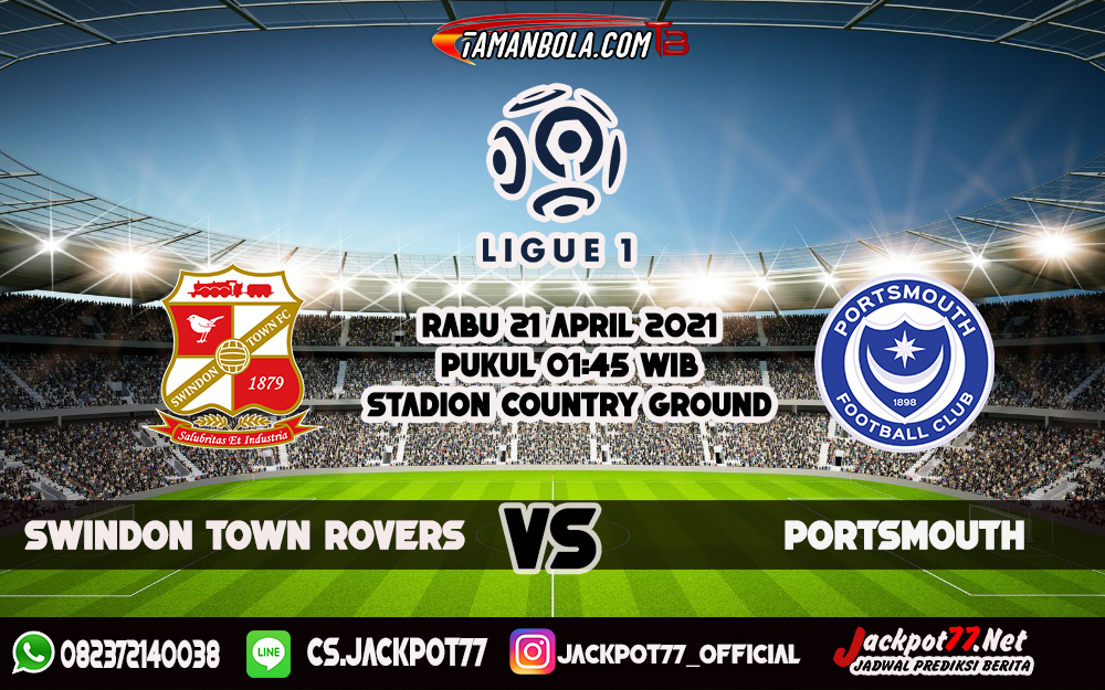 Prediksi Bola Swindon Town Vs Portsmouth 21 April 2021