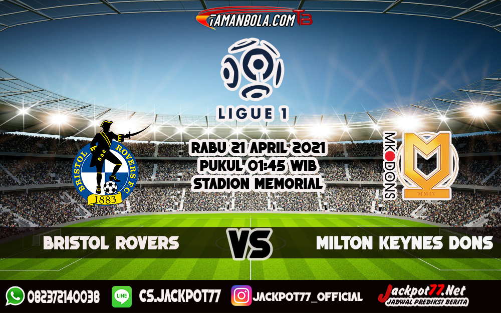 Prediksi Bola Bristol Rovers Vs Milton Keynes Dons 21 April 2021