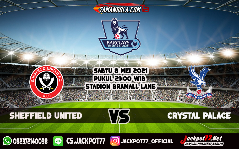 Prediksi Sheffield United Vs Crystal Palace 8 Mei 2021